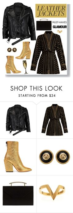 """""""Glam and leather ! *Top set*"""" by euafyl ❤ liked on Polyvore featuring VIPARO, Dodo Bar Or, Petar Petrov, Chanel, MANGO and Janis Savitt"""