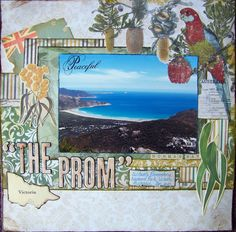 "Kaisercraft Great Southern Land Collection - Scrapbook layout  ""The Prom"" - Scrapbook.com Travel Scrapbook, Scrapbook Pages, Rite Of Passage, Creative Memories, Graphic 45, Scrapbooking Layouts, Vacation Trips, My Favorite Color, Cardmaking"