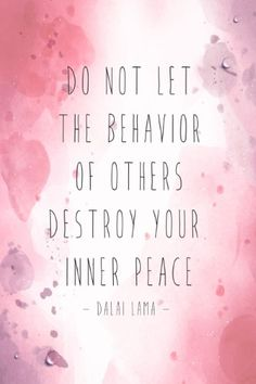 Aluminum (Silver) Metal Do Not Let The Behavior Of Others Destroy Your Inner Peace Dali Lama Motivational Sign Inspirational Qu
