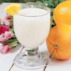 Orange juice, vanilla ice cream and lemon-lime soda. sounds like a creamcicle. :-)