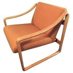 Image of Vintage Mid Century Modern Gunlocke Chair