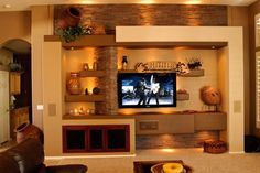 14 Breathtaking Gypsum Board And Niches For TV Wall Unit