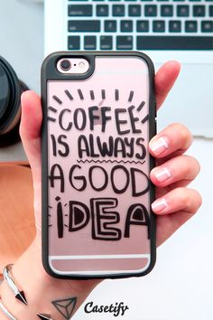 #Coffee is always a good idea. Click through to see more New Standard iPhone 6 case designs by @vasaree https://www.casetify.com/artworks/7CxscnLEwN | @casetify