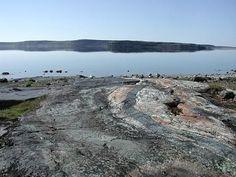 "Nuvvuagittuq belt rocks - Nuvvuagittuq Greenstone Belt.  One of two contenders for 'oldest rock on Earth"""