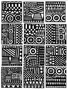 Tribal Patterns, Doodle Patterns, Zentangle Patterns, African Patterns, Pattern Art, Pattern Design, Ink Pen Art, Native American Symbols, Zentangle Drawings