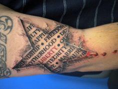 Star spangled liberty tattoo #InkedMagazine #3D #tattoo #patriotic #tattoos #ink