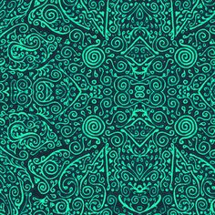 turquoise bridal mendhi fabric by weavingmajor on Spoonflower - custom fabric