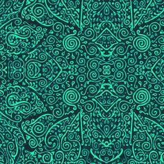 turquoise bridal mendhi fabric by weavingmajor on Spoonflower - custom fabric