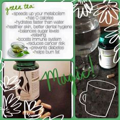 Do you want the benefits of green tea, but find the taste unbearable? Try TeGreen capsules.. Message me for details #greentea #health #mindbodysoul #Nu