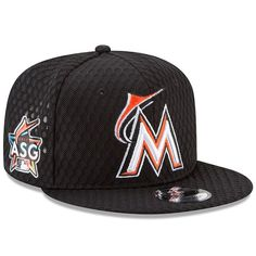Miami Marlins New Era 2017 Home Run Derby Side Patch 9FIFTY Adjustable Hat - Black