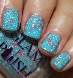 Vampy Varnish: Glam Polish She Had a Lipstick Taser available on Llarowe Short Natural Nails, My Nails, Nail Polish, Make Up, Lipstick, Glitter, Nail Art, Nail Polishes, Makeup