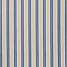 Linum Polo Blue Stripe Fabric - Linum from eggcup & blanket UK
