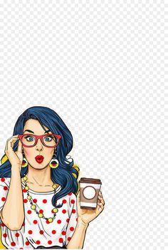 Social media Female Woman Industria Licorera De Caldas, Retro pop, illustration of woman holding coffee cup free png Pop Art Illustration, Character Illustration, Comic Kunst, Comic Art, Comic Book, Pop Art Women, Pop Art Wallpaper, Pop Art Girl, Retro Poster
