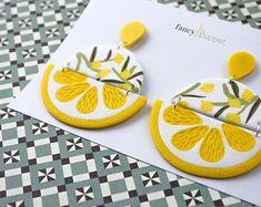 Boucles d'oreilles Citron Géométrique