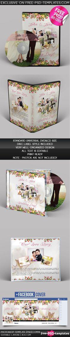 WEDDING CD/DVD COVER – FREE PSD BROCHURE TEMPLATE on Behance