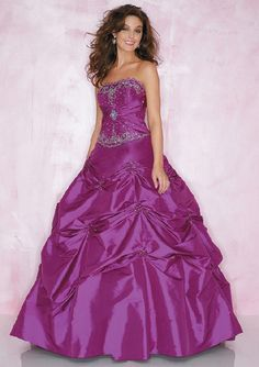 wedding corset dress with purple color