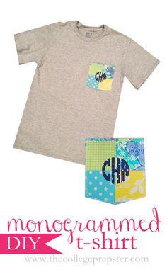 DIY Monogrammed T-Shirt