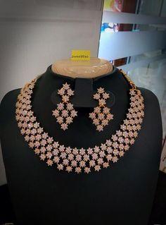 Heavy Neck Deisgn Cz Ruby Neckless | Buy online 1gram Gold Jewellery | Elegant Fashion Wear #cz #bridal #neckless