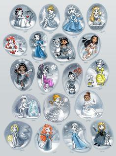 Winter Disney Princesses Collection by daekazu on DeviantArt
