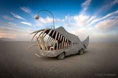 One night, I was deep playa and these guys picked me up in this beauty. Nothing like cool desert winds, awesome tunes and riding in the mouth of a mechanical fish to make you feel alive.
