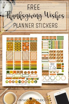 Set of Thanksgiving planner stickers for the Erin Condren planner and other similar weekly planners. Free for personal noncommercial use only. Free Planner, Planner Pages, Happy Planner, Planner Diy, Planner Ideas, Printable Planner Stickers, Calendar Stickers, Printables, Printable Paper