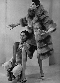 "catch me walking through a haunted house w my furs on ✨ . .  donyale luna with her rootstein mannequin .  first black mannequin, 1967 .  creator adel rootstein chose donyale ""because she was fabulous, not for any political reason at all"" . . . ...."