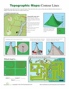 Printables Topographic Map Worksheet topographic map matching english language and change 3 worksheets how to read a could be helpful when teaching students about various types of maps explains to
