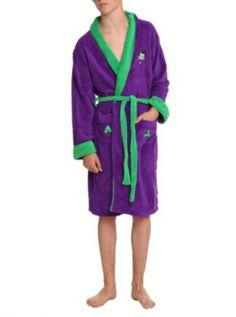 5ebbbb9260 DC Comics The Joker Fleece Bathrobe