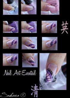 Step by Step Nail Art Fan