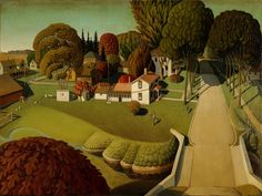 Grant Wood, Birthplace of Herbert Hoover, 1931