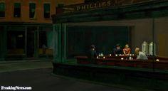 Dark Nighthawks Painting