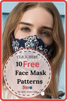 Face Masks For Kids, Easy Face Masks, Homemade Face Masks, Diy Face Mask, Sewing Hacks, Sewing Tutorials, Sewing Projects, Sewing Diy, Hand Sewing