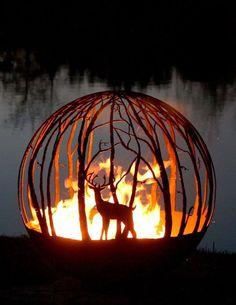 Стихия огня, заключенная в сферу: чудо-печи для сада и приусадебного участка - Ярмарка Мастеров - ручная работа, handmade