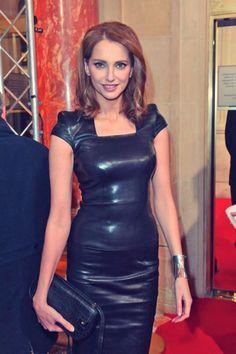Frederique Bel leather dress