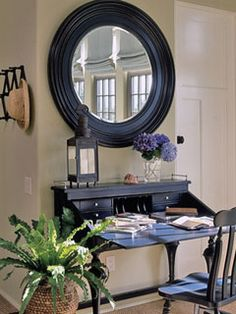 Home Office and Work Space Ideas & Inspiration – Creative Home Office Design Banquettes, Home Office Design, House Design, Desk Areas, Desk Space, Secretary Desks, Office Workspace, Creative Home, Coastal Living