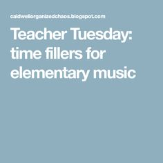 Teacher Tuesday: time fillers for elementary music - absolutely will do these things*** Kindergarten Music, Teaching Music, Teaching Resources, Teaching Ideas, Music Classroom, Music Teachers, Classroom Ideas, Hello Music, Embrace The Chaos