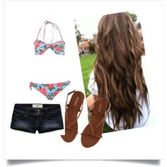created by larsoncarter on Polyvore --   pinning for the hair!