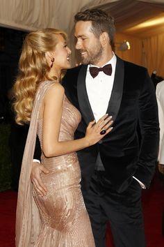Blake Lively e Ryan Reynolds no baile de gala do MET em Nova York, nos Estados Unidos (Foto: Carlo Allegri/ Reuters)