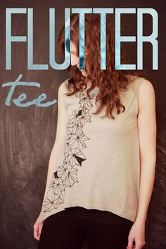 Easy Flutter Tee Womens Shirt Tutorial from The Sewing Rabbit