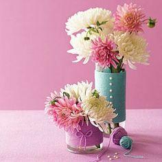 Ideas para decorar jarrones.