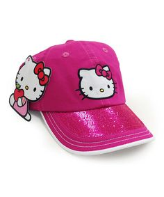 Take a look at the Magenta Hello Kitty Cap on #zulily today!