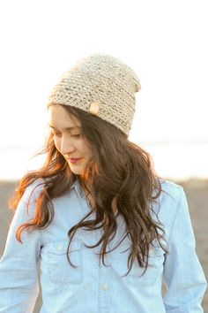 Emerson Beanie Crochet Pattern // Delia Creates
