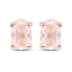 Rose Gold Natural Oval Cut Peach Morganite Earrings – Joy of London Best Diamond, Rose Gold Jewelry, Gemstone Earrings, Stud Earrings, Gold Set, Luxury Jewelry, Rose Gold Plates, Jewelry Gifts, 31 Birthday