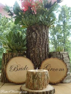 Love this for a fall/natural wedding