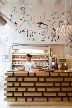 Cafe interior design.