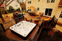 Trex Composite Deck with Hot Tub area