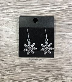 11b5eeab8 Snowflake Jewelry, Silver Snow Flakes, Winter Christmas, Gift for Mailman  Principal, Lunch Lady Under 10, Bus Driver Secret santa Sister her