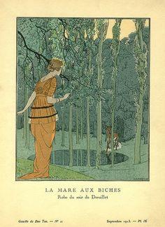 La Mare Aux Biches (The Doe at the Pool) - Le Bon Ton, 1913