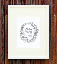 Far Better Things Quote Print | Take a piece of advice from C.S. Lewis with this sweet and sim... | Posters