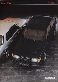 Saab 900 classic Turbo Saab Turbo, Saab 900, Car Brochure, Car Advertising, Retro Ads, Firebird, Flat Nose, Classic Auto, Classic Cars